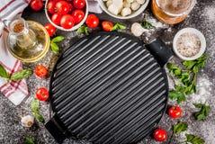 Пищевые ингредиенты итальянки пиццы макаронных изделий стоковые изображения