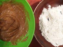 Пищевые ингредиенты на таблице Стоковое Фото