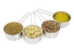 Пищевые ингредиенты пеньки стоковое изображение rf