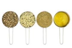 Пищевые ингредиенты пеньки стоковые изображения rf