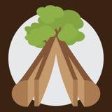Пиломатериал от древесины Стоковые Фото