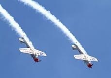 2 пилотажных воздушного судна Стоковые Изображения RF