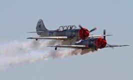 2 пилотажных воздушного судна Стоковая Фотография RF