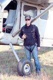 Пилотное положение рядом с его атласа X328 Анджела турбины eq специально Стоковое Фото