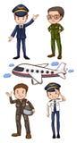пилоты иллюстрация вектора