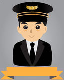 Пилот авиатора Стоковое Фото