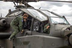 Пилот вертолета апаша стоковое изображение