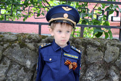 Пилот мальчика Стоковое Изображение RF