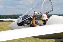 Пилот планера стоковые изображения