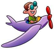 Пилот шаржа иллюстрация вектора