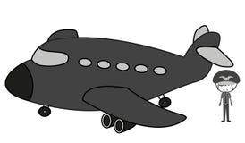 Пилот Doodle Стоковое фото RF