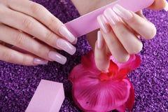 Пилочка для ногтей и буфер Стоковая Фотография RF