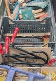 Пилы металла в коробке Стоковая Фотография RF