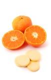 Пилюлька витамин C Стоковые Фото
