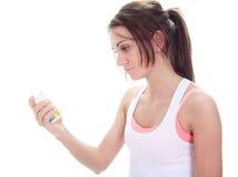 Пилюлька женщины фитнеса Стоковые Изображения RF