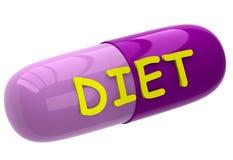 Пилюлька с диетой знака Стоковое фото RF
