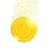 Пилюлька с smiley Стоковые Изображения