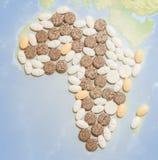 Пилюльки в форме Африки Стоковые Фотографии RF