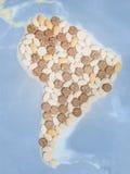 Пилюльки в форме Южной Америки Стоковая Фотография RF