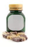 Пилюльки капсул био и бутылка Стоковые Изображения RF