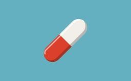 Пилюльки на голубой предпосылке, медицинской пилюльке, иллюстрации вектора Иллюстрация штока