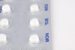 Пилюльки регулирования рождаемости стоковое изображение rf