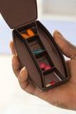 Пилюльки рецепта в коробке дозы медицины Стоковое Изображение RF