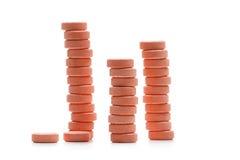 Пилюльки таблетки, изолированные на белой предпосылке Стоковое Изображение