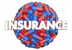 Пилюльки Capsul лекарства охвата медицины рецепта страхования иллюстрация штока