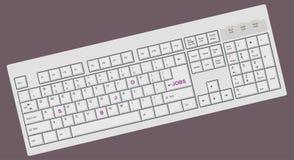 ПК клавиатуры компьютера схематический Стоковая Фотография