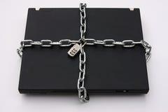 ПК компьтер-книжки locked безопасно Стоковое Изображение