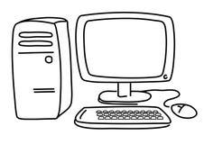 ПК компьютера иллюстрация штока