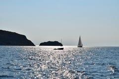 Плавание в архипелаге Kornati стоковое изображение rf