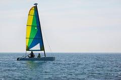 Плавание семьи на каникулах Стоковые Изображения RF