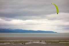 Плавание тележки на заливе kachemak, Аляске Стоковая Фотография RF