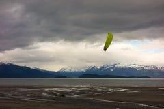 Плавание тележки на заливе kachemak, Аляске Стоковое Фото