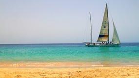 Плавание Фуэртевентуры задействует в Morro Jable, Канарских островах, Испании стоковая фотография