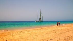 Плавание Фуэртевентуры задействует в Morro Jable, Канарских островах, Испании стоковое изображение