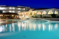 Плавательный бассеин гостиницы Стоковое Изображение