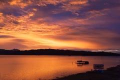 Плавать в озеро Стоковое Фото