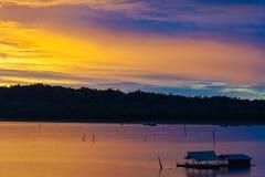 Плавать в озеро Стоковое фото RF