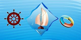 плавать икон Стоковое Изображение