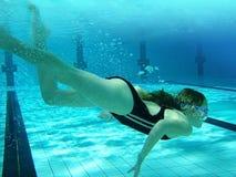 плавать счастливый Стоковое Изображение