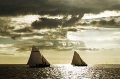 плавать 4 шлюпок Стоковая Фотография RF
