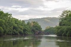 Плавая дом в озере Стоковое фото RF