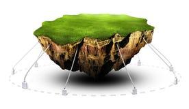 плавая земля стоковое изображение rf
