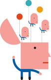 Плавая идеи иллюстрация вектора
