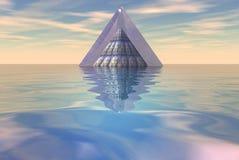 плавая море пирамидки Стоковое Фото