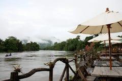 плавая ресторан курорта Стоковая Фотография RF