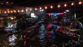 Плавая рынок на ноче видеоматериал